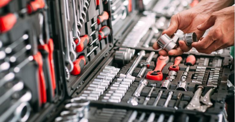organização de ferramentas na indústria